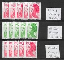 T 00663 - France, Déstockage Type Liberté Avec N° Rouge Au Verso, Côte 40.00 € - 1982-90 Liberté De Gandon