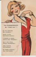 CPA - LES COMMANDEMENTS DU FRUIT VERT - TA VERTU CONSERVERAS BIEN JALOUSEMENT - SUCCÈS TU AURAS MAIS D'ESTIME SEULEMENT - Femmes
