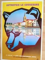 Affiche - Grand Illustrateur Foré - Ariège - Saint-Girons - Ours - Autrefois Le Couserans - Cartophilie 1999 - Affiches