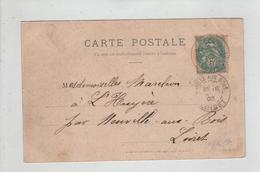 Généalogie Carte Précurseur 1903 Marchon A L'Huyère Neuville Au Bois Saint Patrice Château De Rochecotte - Généalogie