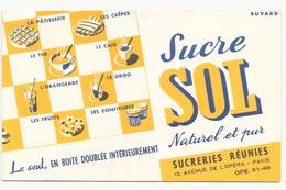 Buvard ( 21 X 13.5 Cm ) Sucre Sol ( Rousseurs ) - Sucreries & Gâteaux
