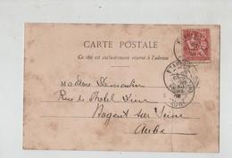 Généalogie Carte Précurseur 1902 Demoulin Nogent Sur Seine Paris Plage La Rue De Paris - Généalogie