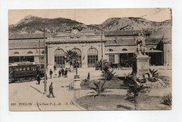 - CPA TOULON (83) - La Gare P.L.M. - Edition B. C. 101 - - Toulon