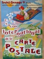 Affiche - Pionniere Cartophilie - 5ème Salon George V Paris 1977 Jehanno - Tapis Volant - Affiches