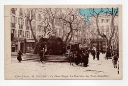 - CPA TOULON (83) - La Place Puget 1938 - La Fontaine Des Trois Dauphins - Edition Gensolen N° 85 - - Toulon