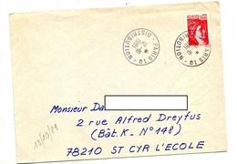 Lettre Cachet  Paris 01 Distribution - Marcophilie (Lettres)