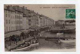 - CPA TOULON (83) - Quai Du Port Cronstadt 1910 (belle Animation) - Edition E. P. N° 93 - - Toulon
