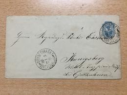 K6 Russia Russie Ganzsache Stationery Entier Postal U 34A 145x81 Von Preny Polen Nach Königsberg - 1857-1916 Imperium