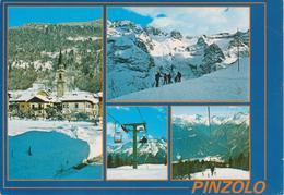 PINZOLO - VAL RENDENA - VEDUTINE - SCIATORI E FUNIVIA - Italia