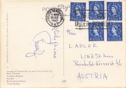 ENGLAND 1967 - 5 Fach Frankierung Auf Ak London … - 1952-.... (Elisabeth II.)