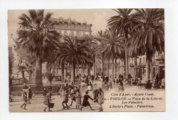 - CPA TOULON (83) - Place De La Liberté 1924 - Les Palmiers (belle Animation) - - Toulon