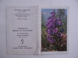 CALENDRIER De POCHE 1983 Publicité PHARMACIE RIGAL & RAUSCENT à AVALLON 89 - Calendars