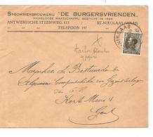 PR61089/ TP 401 S/L.Publicitaire Stoombierbrouwerij 'De Burgersvrienden' C.St.Niklass 1935 V.Gent - Belgium