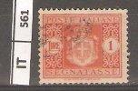 ITALIA, 1934, Segnatasse, L. 1, Usato - 1900-44 Vittorio Emanuele III