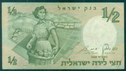 Israel 1/2 Lira 1958 Unc - Israel