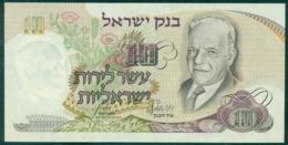 Israel 10 Lira 1968 Unc - Israel