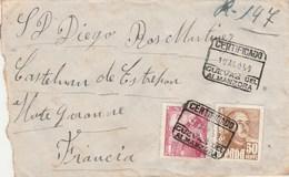 Espagne Lettre Recommandée CUEVAS Del Almanzora 10/8/1950 Pour Castelnau D' Estrefonds Haute Garonne France - 1931-Heute: 2. Rep. - ... Juan Carlos I