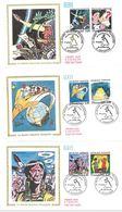 FDC Série La Bande Dessinée Française - 6 Enveloppes (16 Angoulême 29/01/1988) - 1980-1989