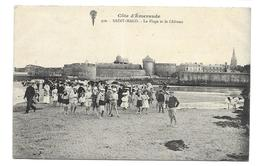 35/ ILLE Et VILAINE...SAINT MALO. La Plage Et Le Château - Saint Malo
