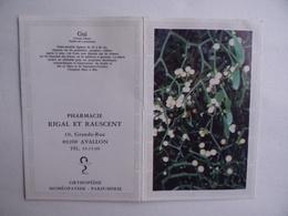 CALENDRIER De POCHE 1984 Gui Publicité PHARMACIE RIGAL & RAUSCENT à AVALLON 89 - Kalenders