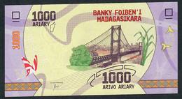 Madagascar NLP 1000 Ariary 2017 Unc. - Madagascar