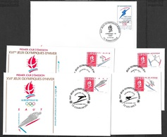 T 00602 - France, Alberville 5 Enveloppes 1er Jour - FDC