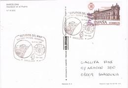 31043. Postal BARCELONA 1986. Estudios Del Mar, Tratado ANTARTICO. Antartida - 1931-Hoy: 2ª República - ... Juan Carlos I