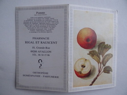 CALENDRIER De POCHE 1987 Pomme Publicité PHARMACIE RIGAL & RAUSCENT à AVALLON 89 - Calendars