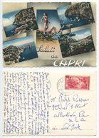 Italy 1954 Saluti Da Capri Postcard Marina Grande To Allentown PA - Carpi
