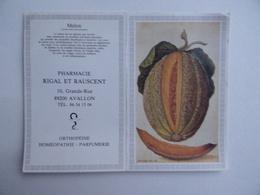 CALENDRIER De POCHE 1987 Melon Publicité PHARMACIE RIGAL & RAUSCENT à AVALLON 89 - Calendari