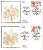 FDC PhilexFrance 89 Liberté - 2 Enveloppes (75 Paris - 57 Metz 04/03/1988) - FDC