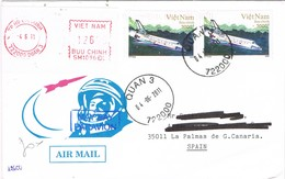 31046. Carta Aerea HO CHI MINH, Quan (Viet Nam) 2011. Avion - Vietnam