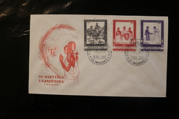 Vatican City FDC Uganda Martyrs Day Of Issue Cancel 1965 A04s - FDC