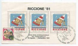 Italy 1981 Souvenir Sheet RICCIONE XXXIII Fiera Internazionale Del Francobollo - 6. 1946-.. Republic