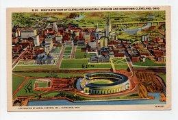 - CPA CLEVELAND (Etats-Unis) - BIRD'S-EYE OF CLEVELAND MUNICIPAL STADIUM AND DOWNTOWN - - Cleveland