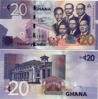 GHANA       20 Cedis       P-40[g]       4.8.2017        UNC - Ghana