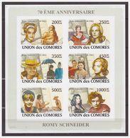 0714 Comores 2008 Movie Star Romy Schneider S/S MNH Imperf - Acteurs