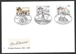 T 00603 - 1994, Georges Simenon, émissions Conjointes Belgique, France Et Suisse - Non Classés