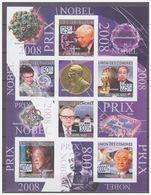0717 Comores 2009 Nobel Pricewinners Laureaten 2008 S/S MNH Imperf - Nobelprijs