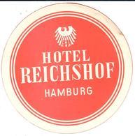 ETIQUETA DE HOTEL  - HOTEL REICHSHOF  -HAMBURG  -ALEMANIA - Etiquetas De Hotel