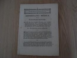 DISSERTATIO MEDICA DE PARAPLEURITIDE 1773 - Livres, BD, Revues