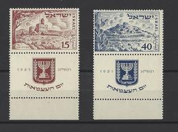 ISRAEL.  YT   N° 43/44  Neuf **  1951 - Israel