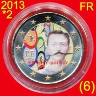 2 Euro COULEUR Farbe Color FRANCE 2013-2ème Colorisée (6ème) En Capsule, Pièce Commémorative De 2,oo Euro, Le 150ème Ann - Frankreich