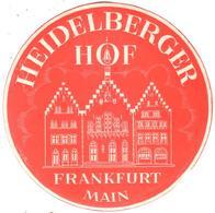 ETIQUETA DE HOTEL  -  HEIDELBERGER HOF  -FRANKFURT MAIN  -ALEMANIA - Etiquetas De Hotel