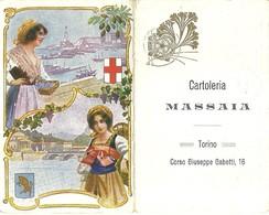 "2134 "" CARTOLERIA MASSAIA.-CORSO G. GABETTI-TORINO-CALENDARIO 1926 -TORINO,GENOVA E COSTUMI "" ORIGINALE - Calendari"