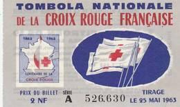 """BILLET TAMBOLA NATIONALE DE LA CROIX ROUGE FRANÇAISE CENTENAIRE GROS LOT """"CITROËN DS 19"""" - Billets De Loterie"""