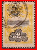 EL SALVADOR AÑO 1907.. 3 CENTAVOS. National Palace - El Salvador