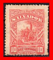 EL SALVADOR AÑO 1892.. 10 CENTAVOS LANDING OF COLUMBUS - El Salvador
