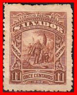 EL SALVADOR AÑO 1892.. 11 CENTAVOS LANDING OF COLUMBUS - El Salvador