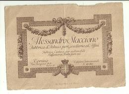 """2135 """" ALESSANDRO STACCIONE-FABBRICA D'ASTUCCI PER GIOIELLERIA ED AFFINI-VIA BOGINO9/11-TORINO """" ORIGINALE - Cartoncini Da Visita"""